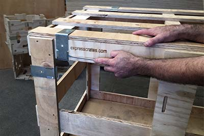 Easy Assemble & Disassemble - clip together open wooden crate