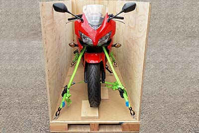 Safe, Protective case for motorcycle shipping